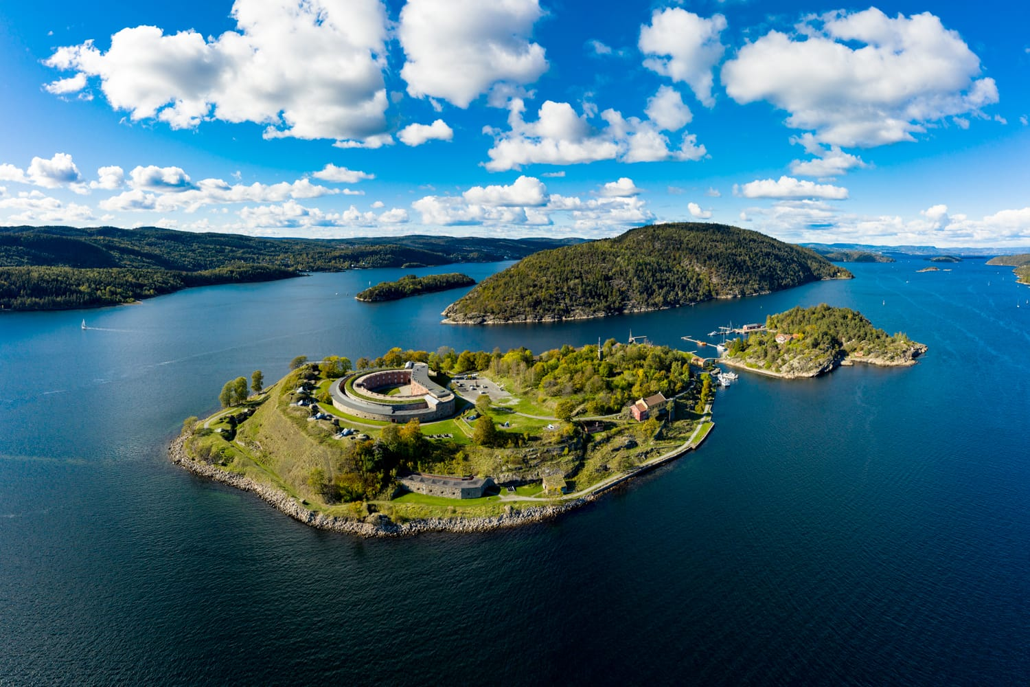 Aerial view of Oscarsborg, Norway