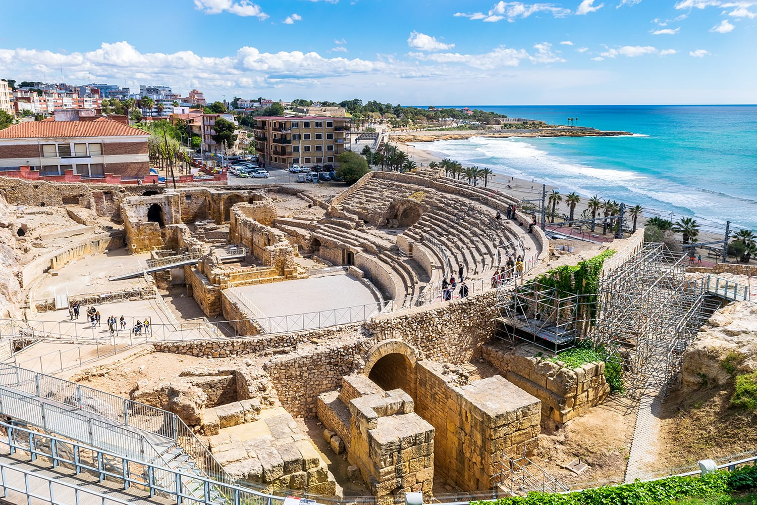 Ancient Roman Amphitheater in Tarragona, Spain