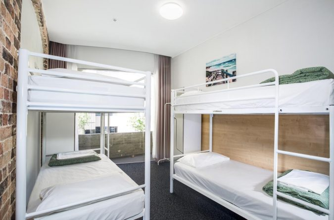 Dorm room at Base Sydney