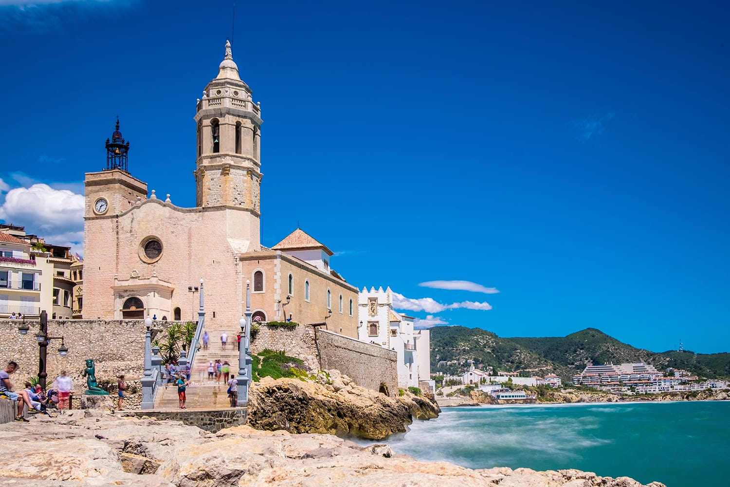 Church of St. Bartomeu & St. Tecla in Sitges, Spain