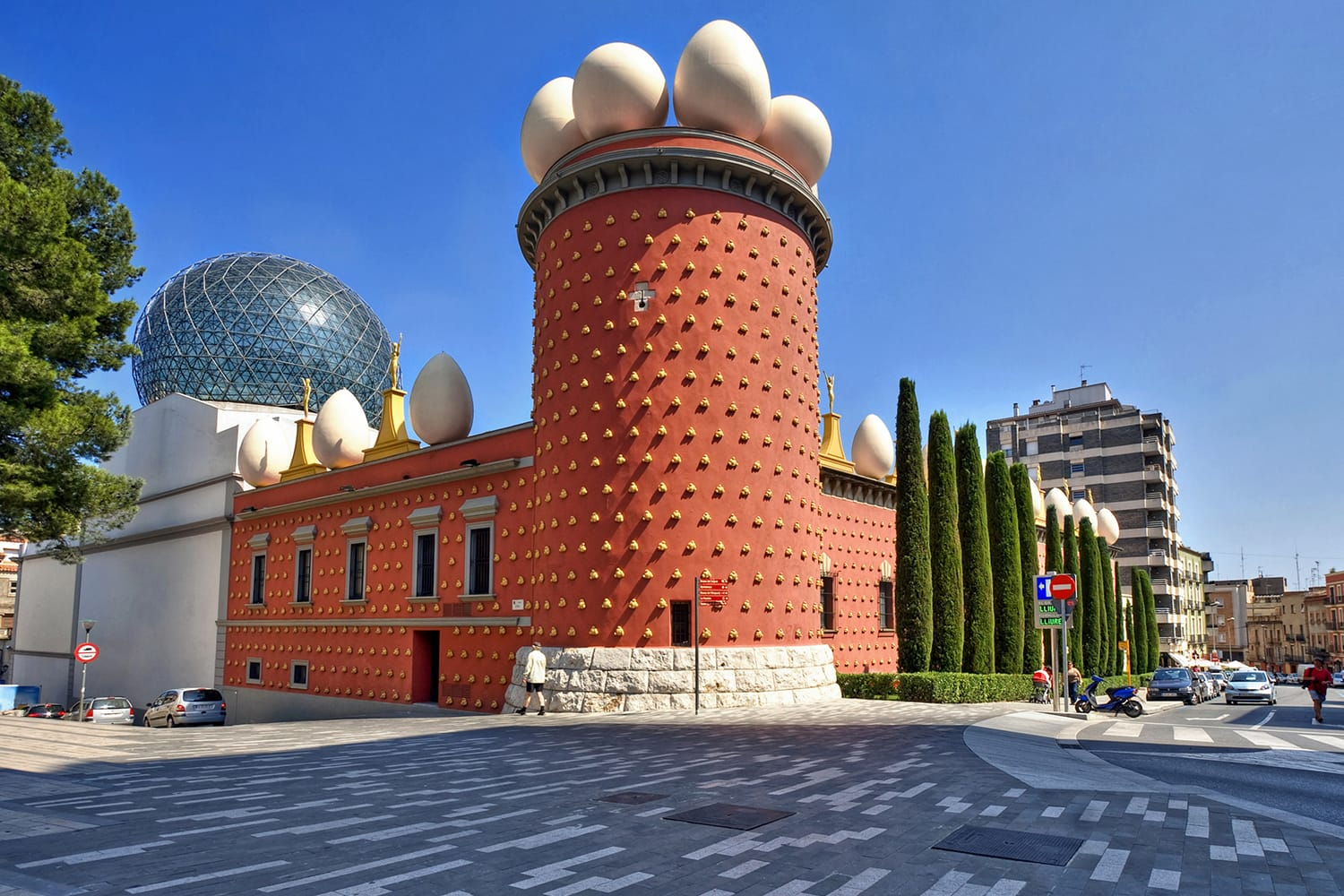 The Dali Theatre and Museum in Figueres, Spain