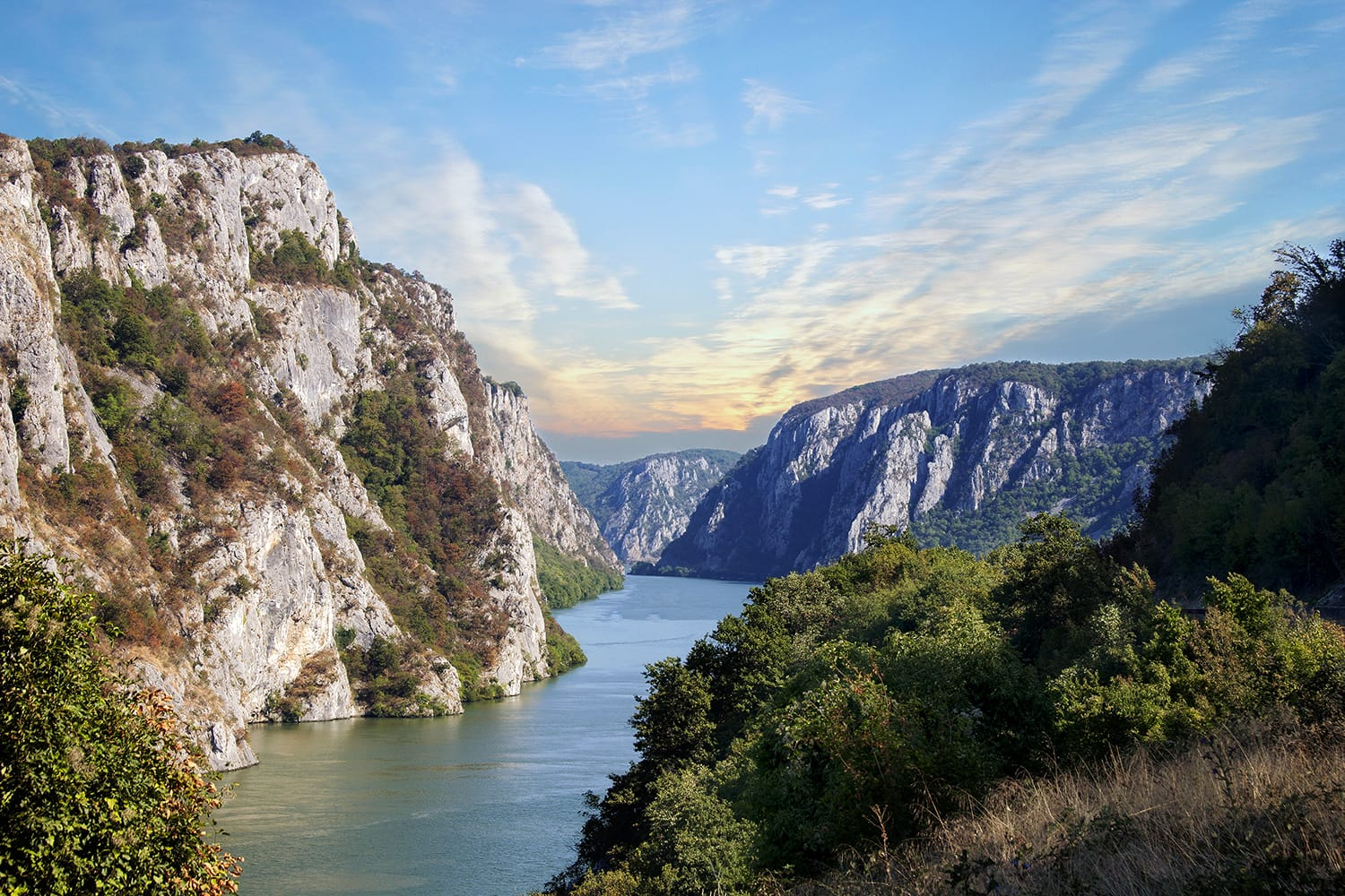 Danube gorge, Danube in Djerdap National park, Serbia