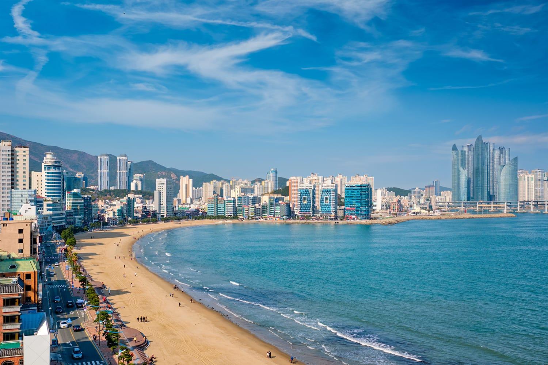 Gwangalli Beach in Busan, South Korea
