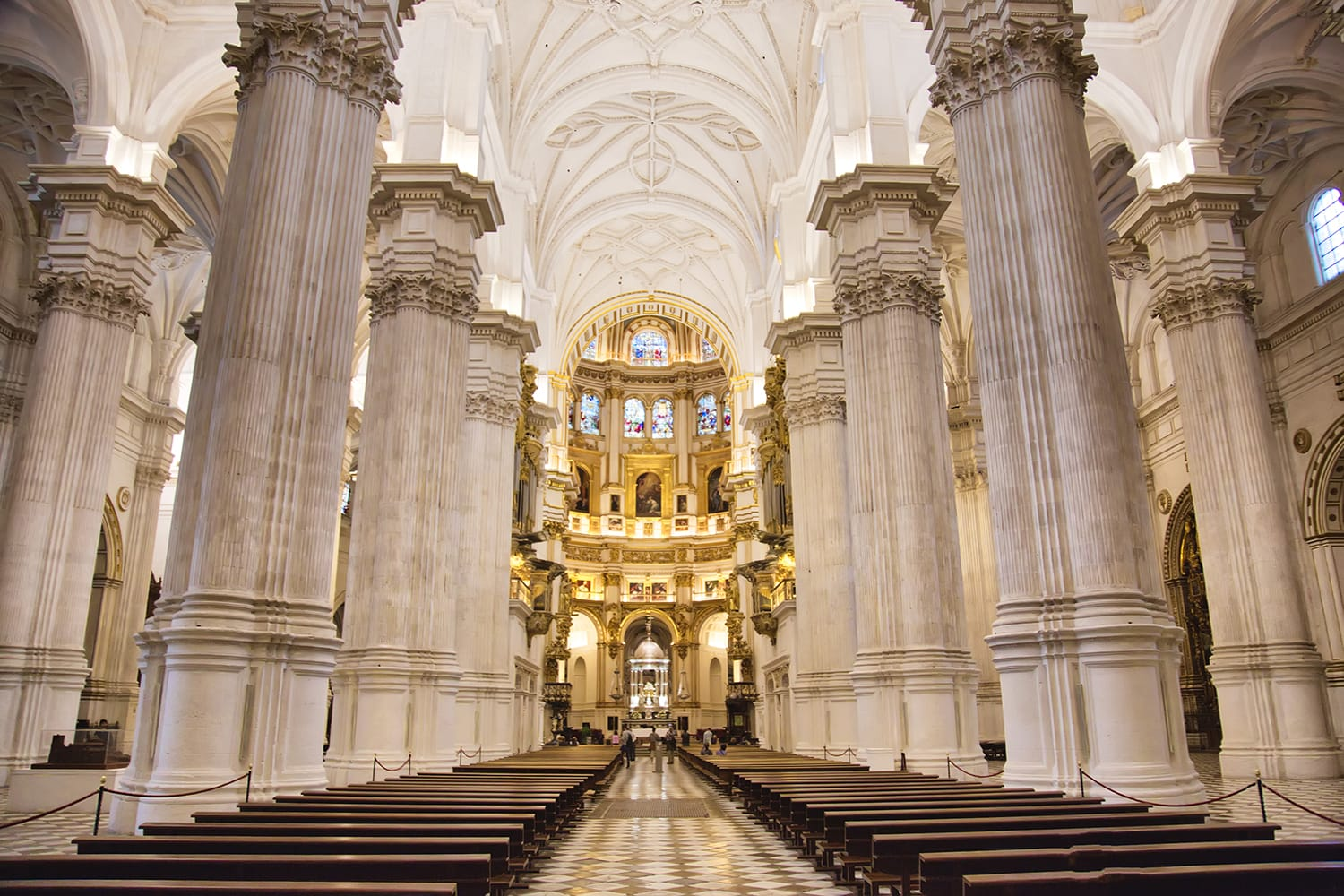 Exquisite Interiors of landmark Granada Royal Cathedral, Spain