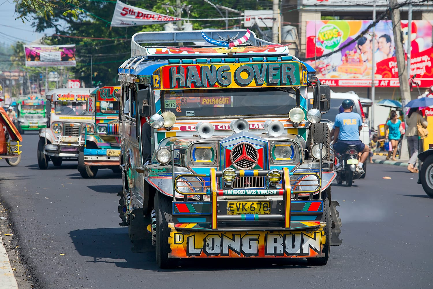 Jeepneys are the most popular means of public transportation in the Philippines