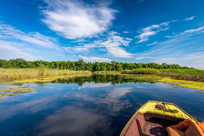 Kayaking at Obedska Bara, Serbia