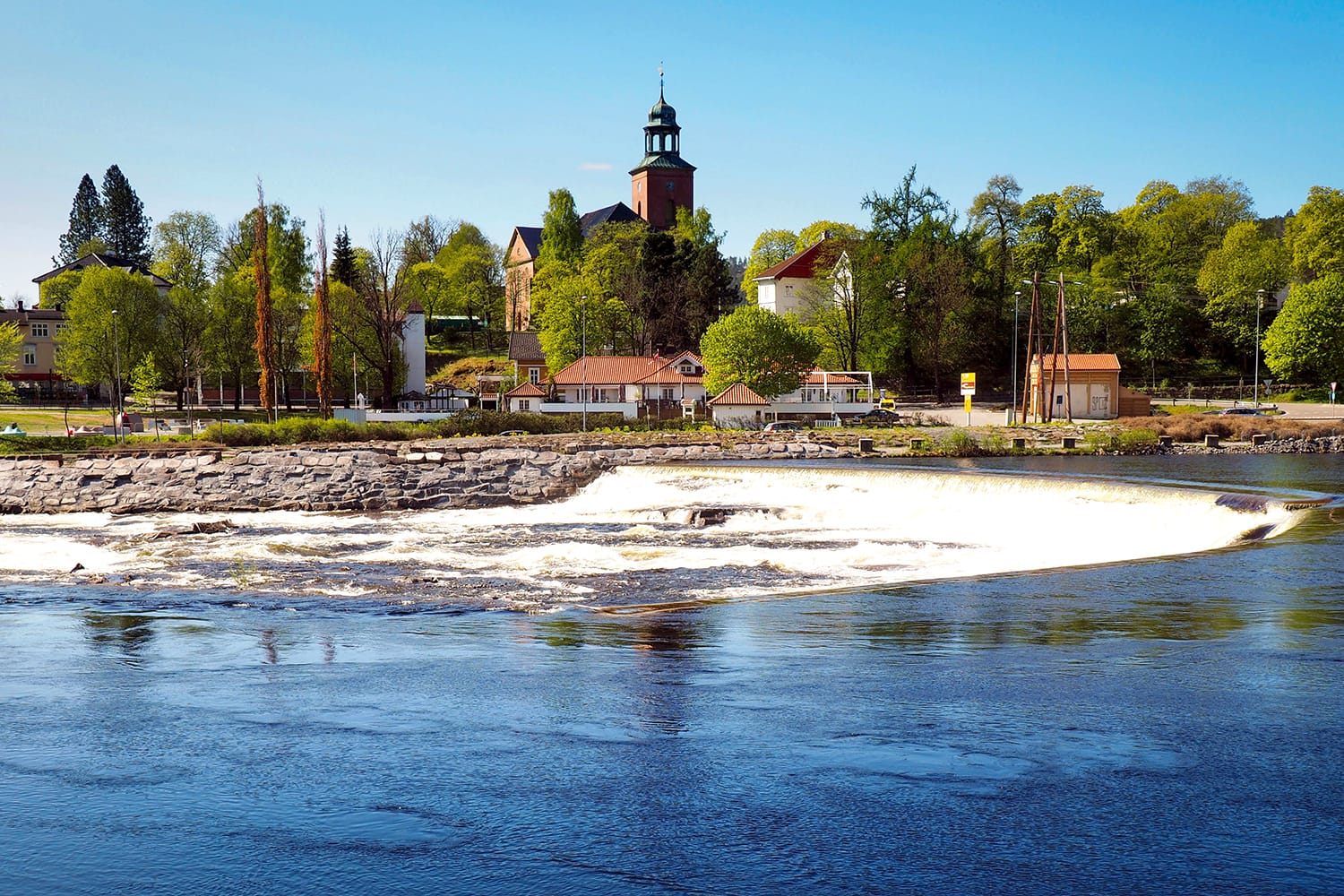 View on the Kongsberg river in Norway
