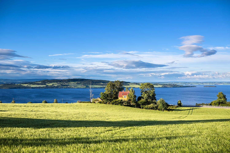 Lake Mjosa in Norway