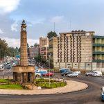 Meyazia 27 Square, commonly known as Arat Kilo, in Addis Ababa, Ethiopia
