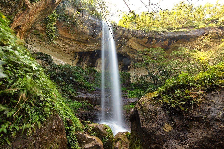 Motian waterfall in Sandiaoling park, Taipei province, Taiwan