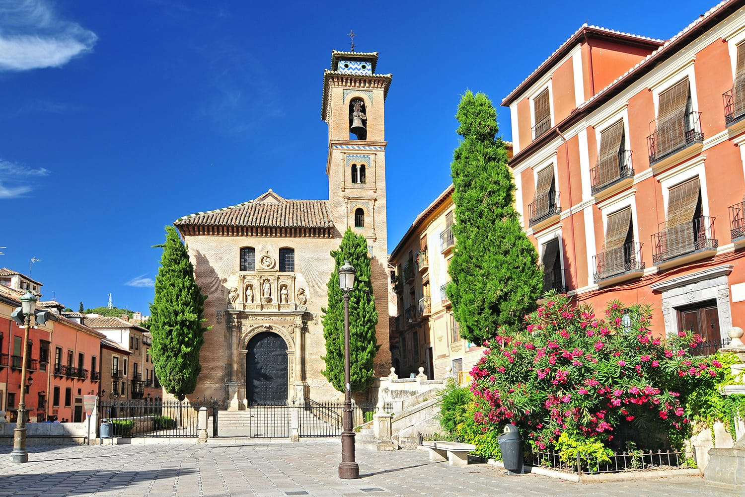 Church of Santa Ana in Plaza Nueva, Granada, Andalusia, Spain