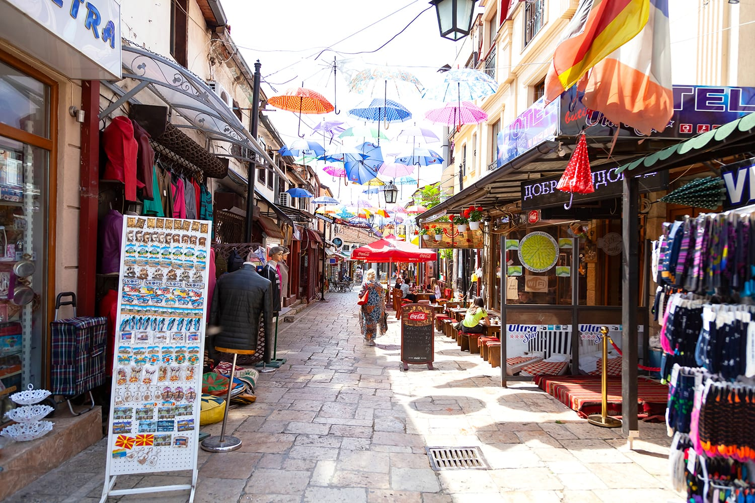 Streets of the Old bazaar in Skopje, Macedonia