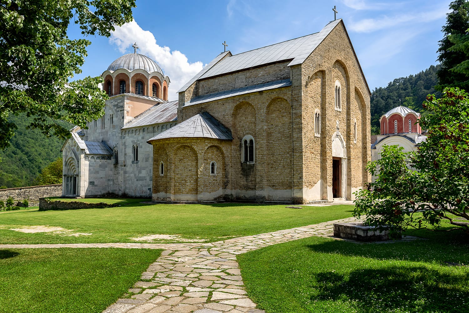 Studenica monastery, 12th-century Serbian orthodox monastery located near city of Kraljevo, Serbia