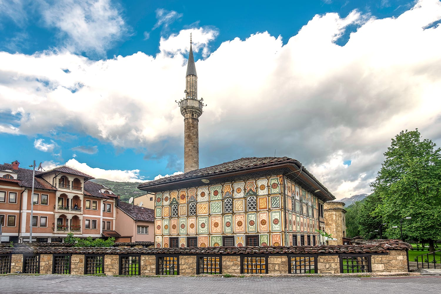 Tetovo painted mosque in Skopje, Macedonia