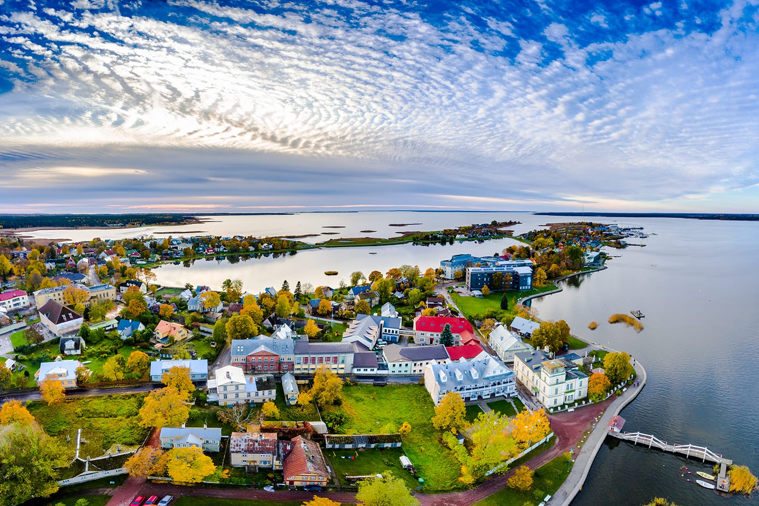 Aerial view of Haapsalu, Estonia