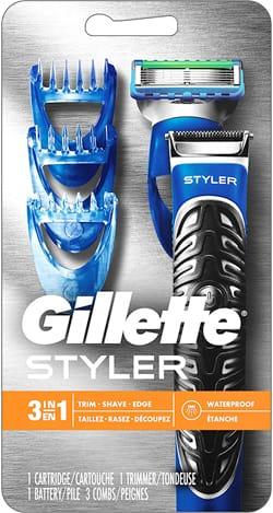 Gillette Styler 3-in-1 Beard Trimmer, Razor & Edger