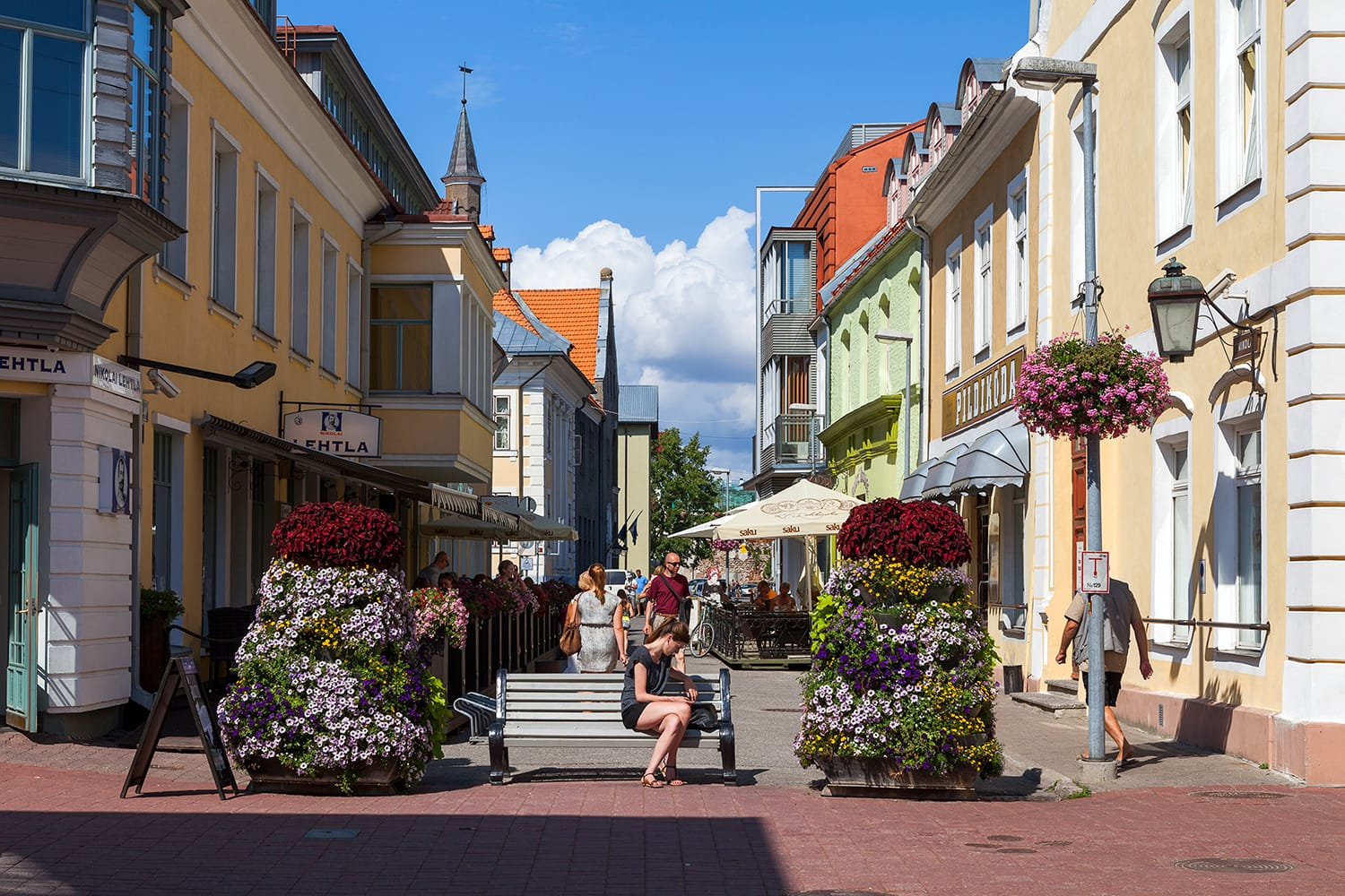 Old town in Parnu, Estonia