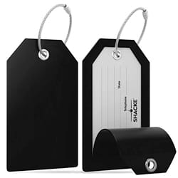 Shacke Luggage Tags with Full Back Privacy Cover