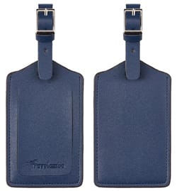 Travelambo Leather Luggage Bag Tags