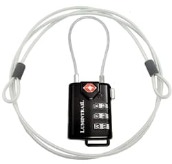 Lumintrail TSA Approved Cable Luggage Lock