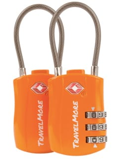 TravelMore TSA Approved Travel Combination Cable Luggage Lock
