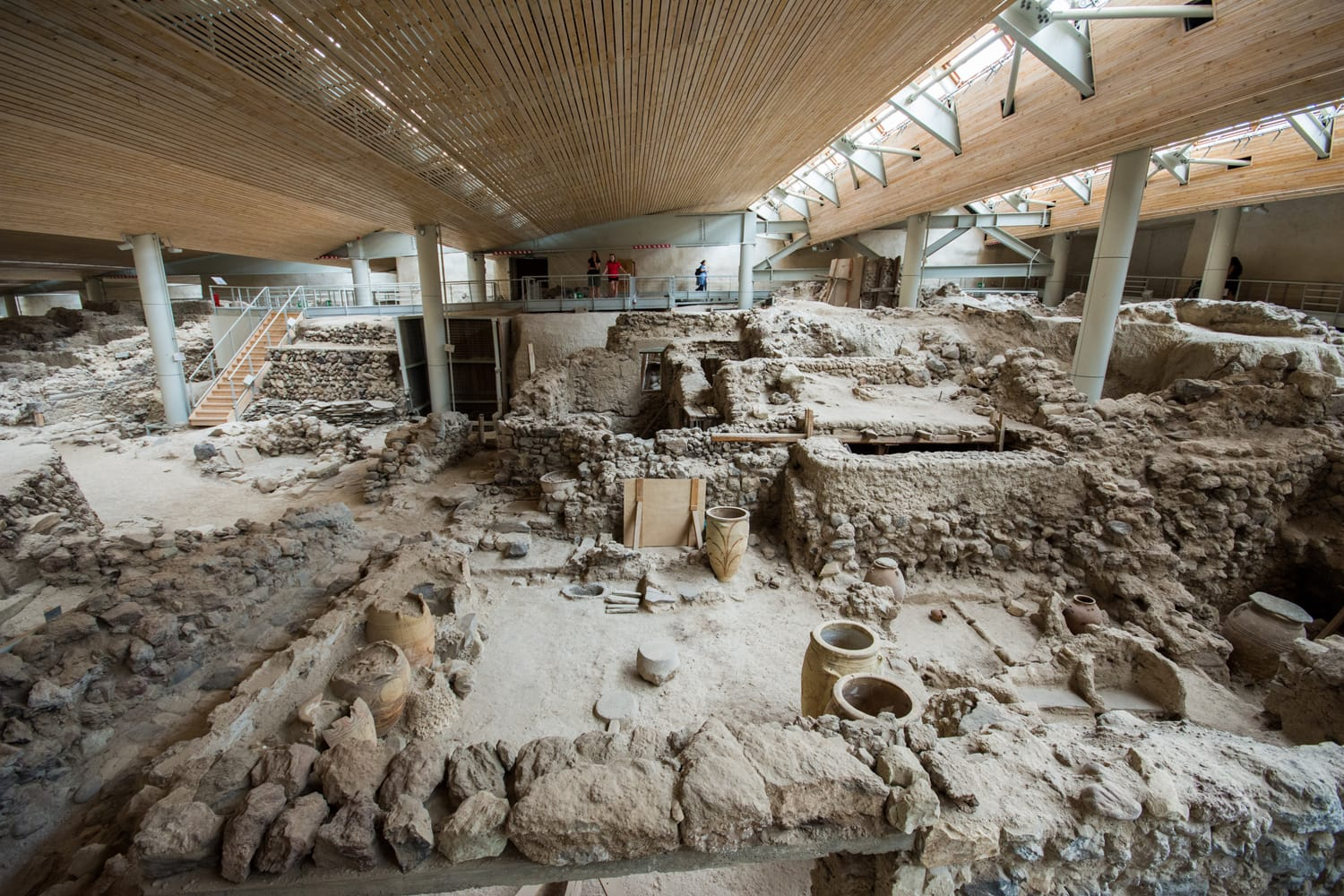 Akrotiri is an archaeological site from the Minoan Bronze Age on the Greek island of Santorini, Greece