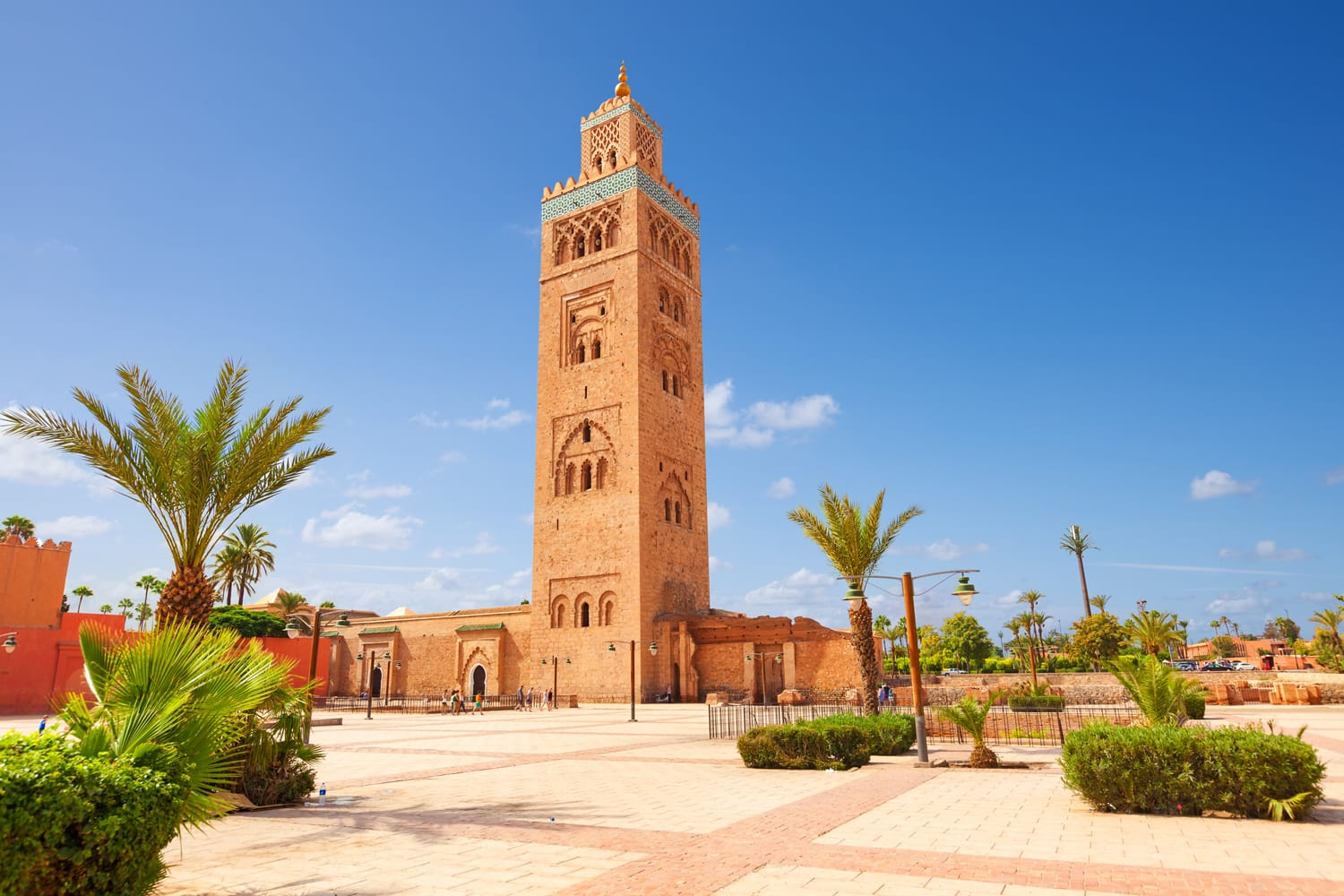 Koutubia mosque in Marakech. One of most popular landmarks of Morocco