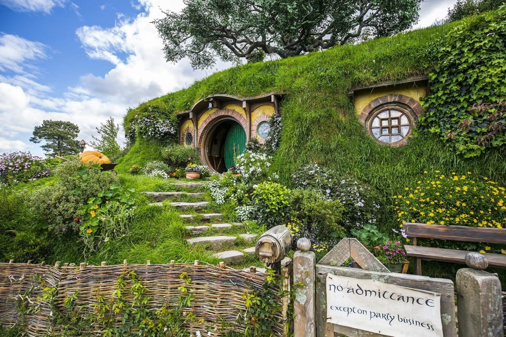 Lord of the Rings Hobbiton movie set in New Zealand