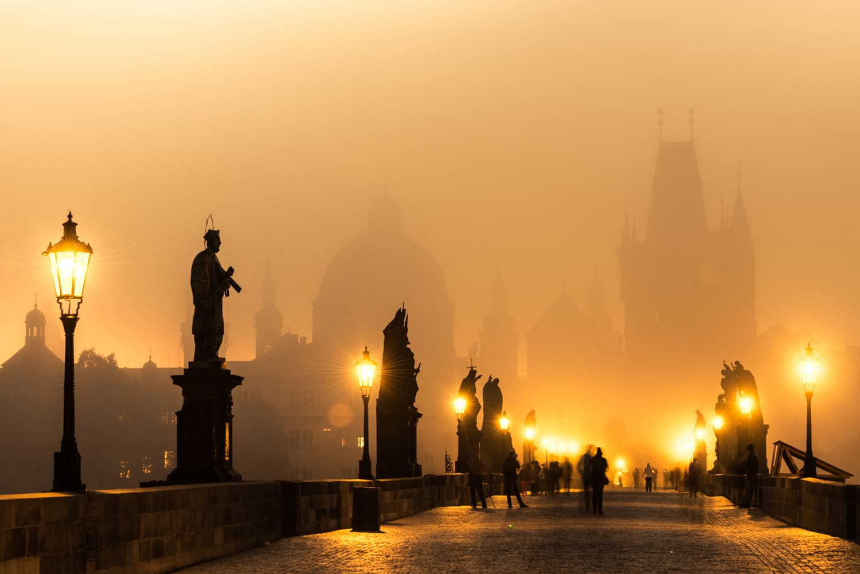 Sunrise at Charles Bridge, Prague, Czech Republic