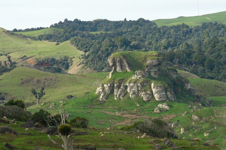 Weathertop near Port Waikato in New Zealand