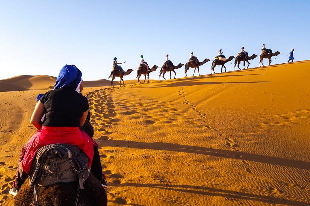Sahara desert in Merzouga Morocco.