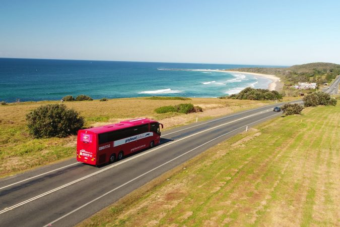 Greyhound bus driving in Australia