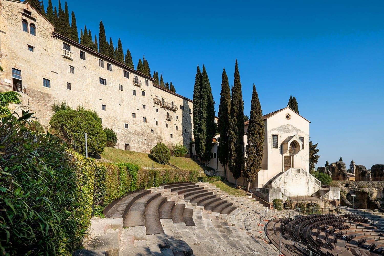 Amphitheater of the Teatro Romano in Verona, Italy