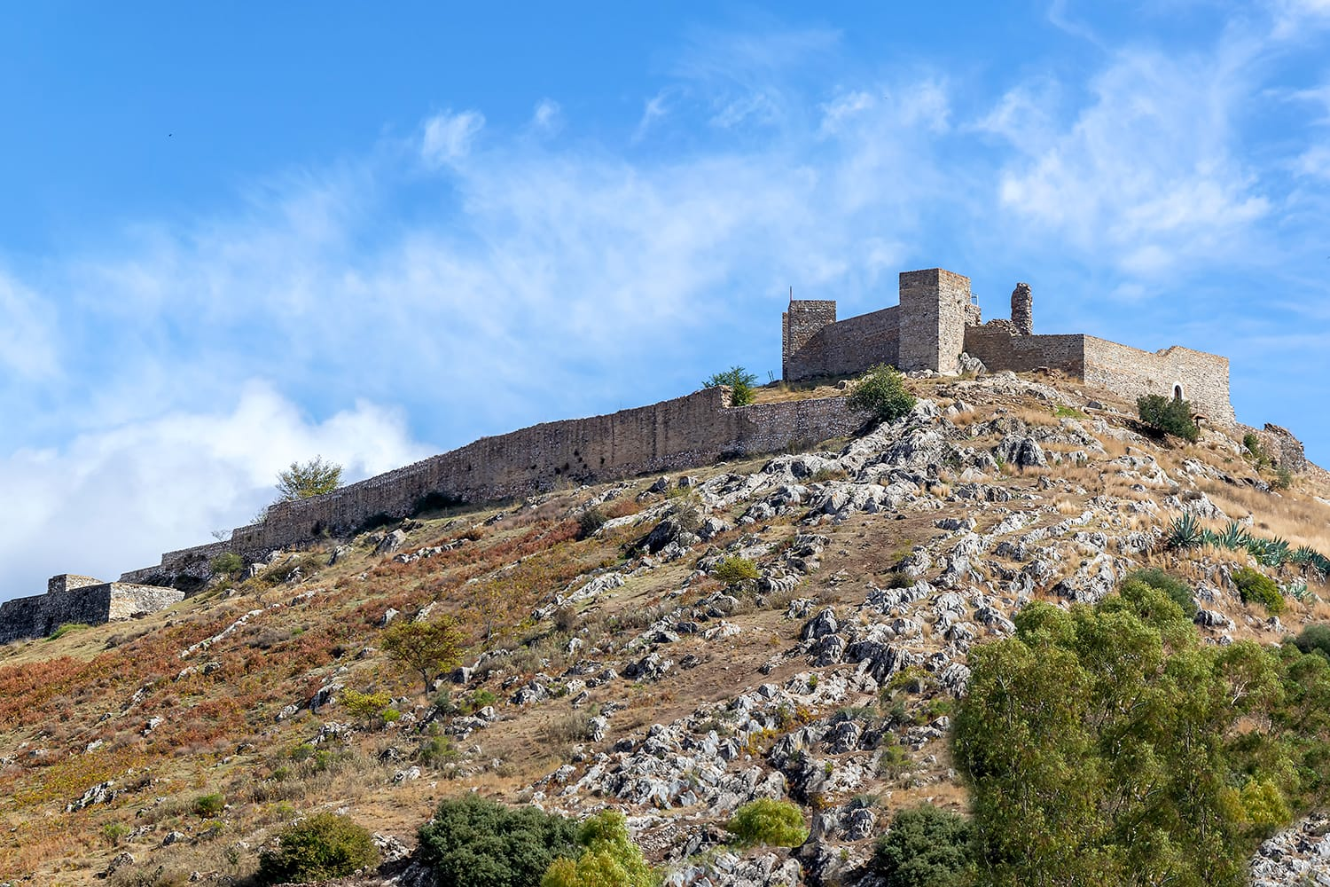 The Aracena castle built between the 13th and 15th centuries over the ruins of an older Moorish Castle