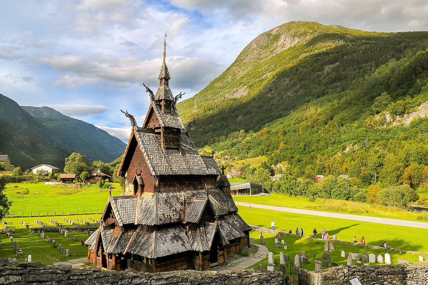 Borgund stave wooden church in Western Norway