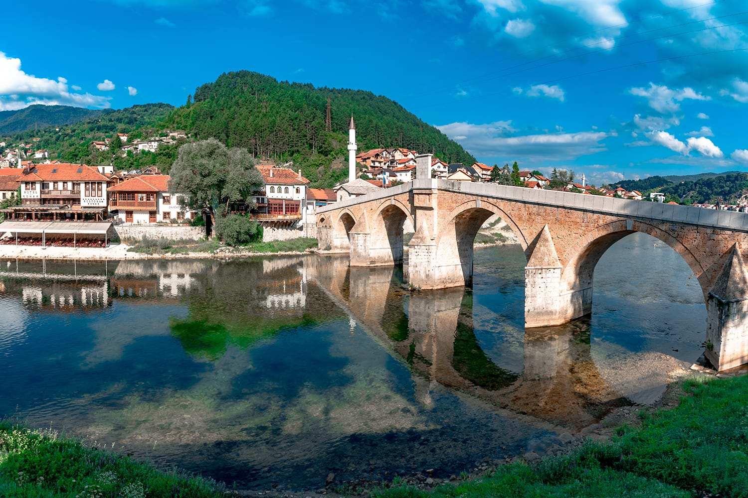 Old Bridge over Neretva River in Konjic, a small town in Bosnia and Herzegovina.