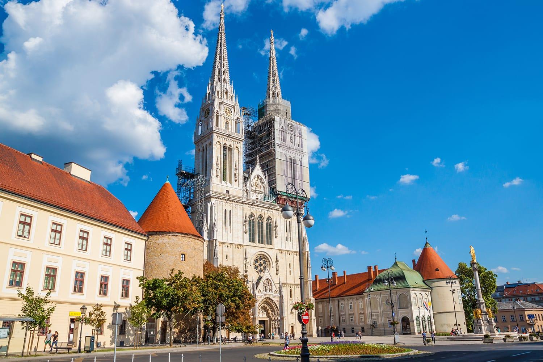 Zagreb Cathedral in Zagreb, Croatia