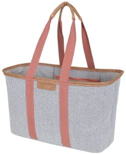 CleverMade SnapBasket LUXE Canvas Beach Bag