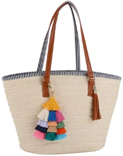 COOFIT Straw Beach Bag