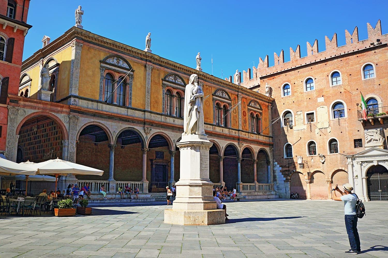 Piazza dei Signori in Verona, Italy