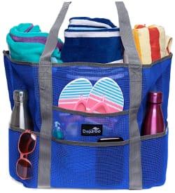 Dejaroo Mesh Beach Bag with Oversized Pockets