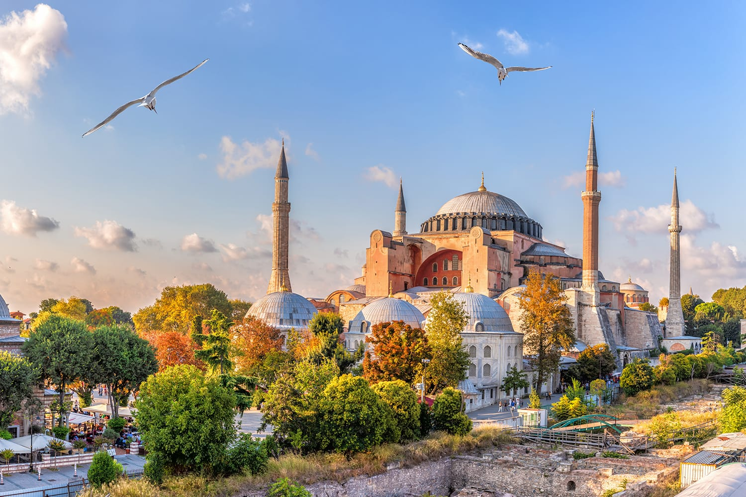 Beautiful view on Hagia Sophia in Istanbul, Turkey