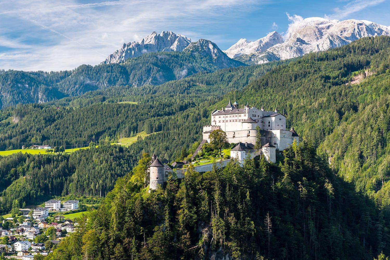 Hohenwerfen Castle in Austria near Salzburg