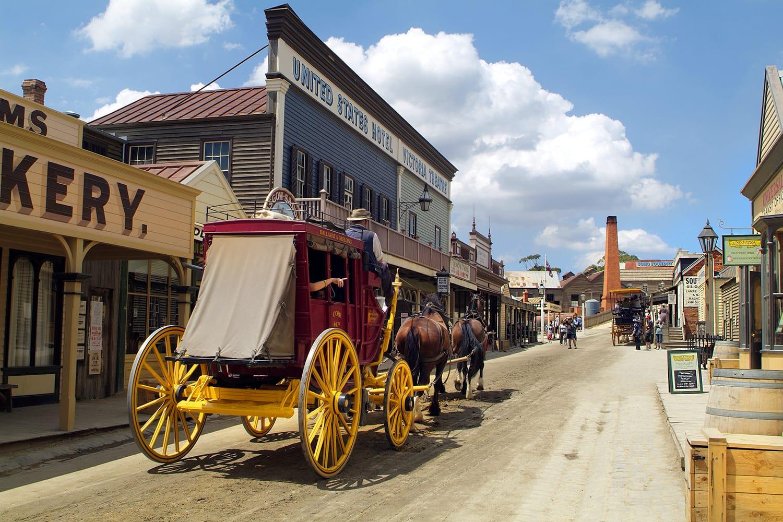 Mining town of Ballarat in Australia