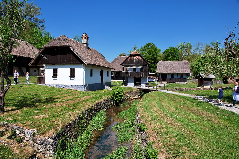 Kumrovec, a traditional village, in Croatia