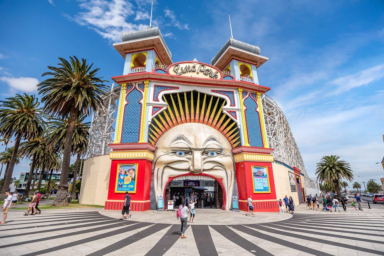 Luna park in Melbourne, Australia