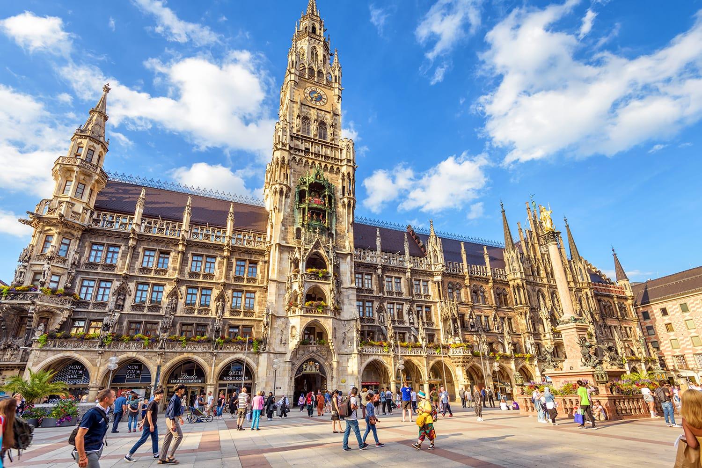 Town Hall on Marienplatz in Munich, Germany