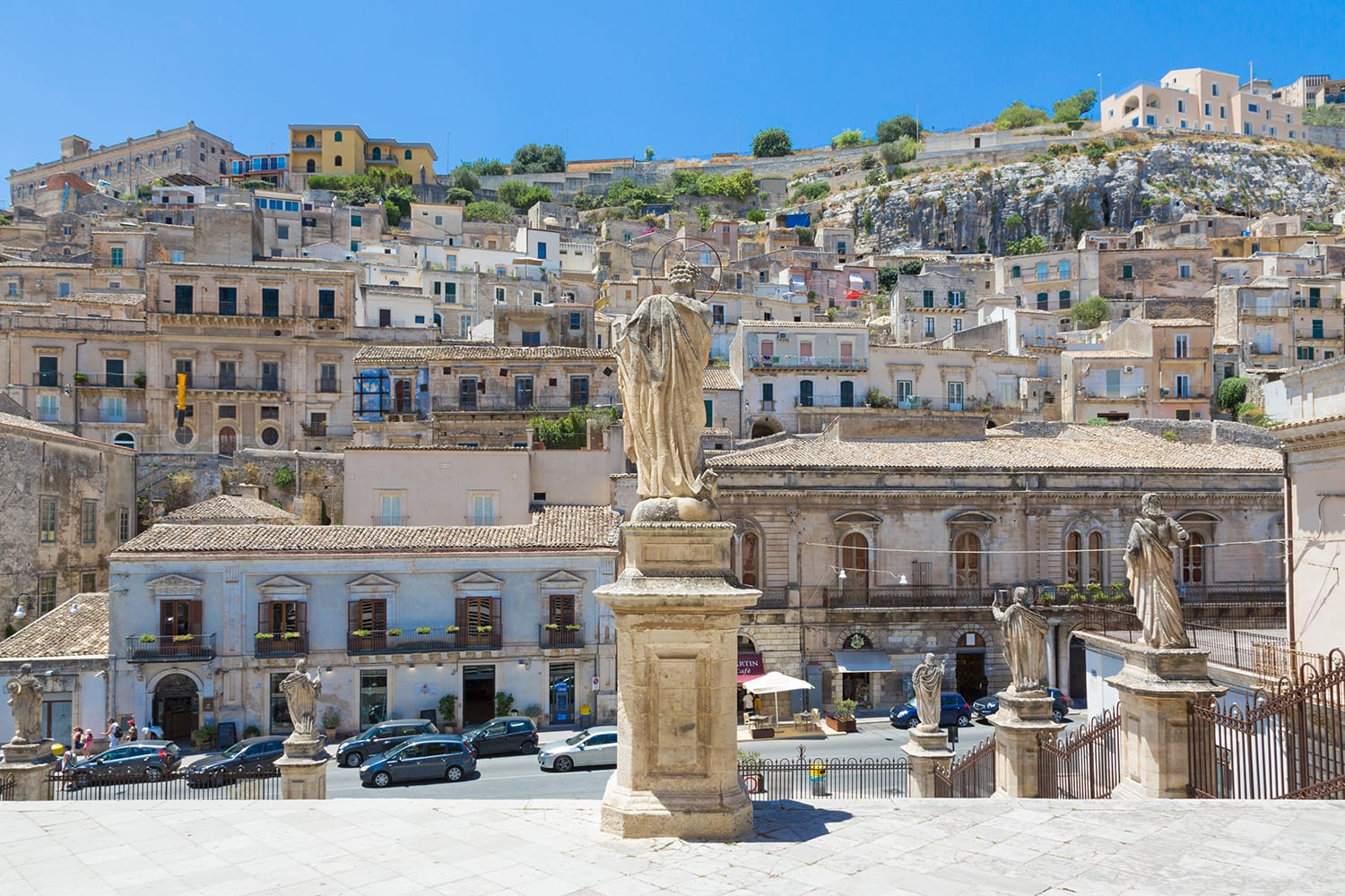 Modica (Sicily, Italy) - View of the ancient town