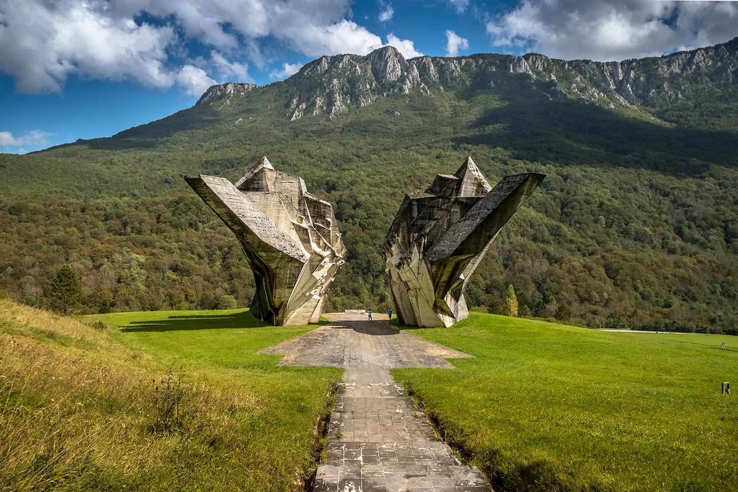 Tjentiste World War II monument,Sutjeska National Park, Bosnia and Herzegovina
