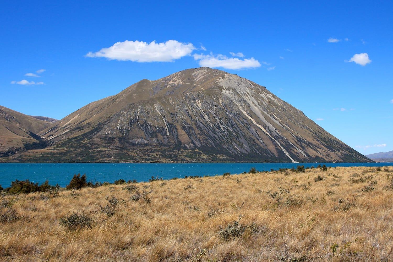 Mountain of the Ben Ohau Range, New Zealand
